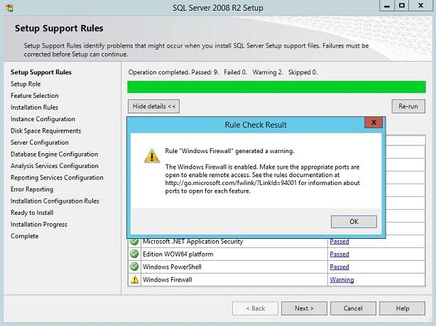 Installing SQL Server 2008 R2 In Windows Server 2012 R2